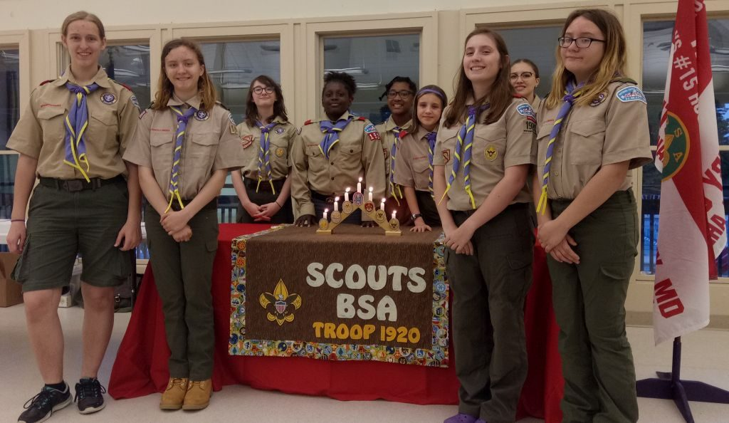 Youth members of Troop 1920 at the May 2019 Court of Honor